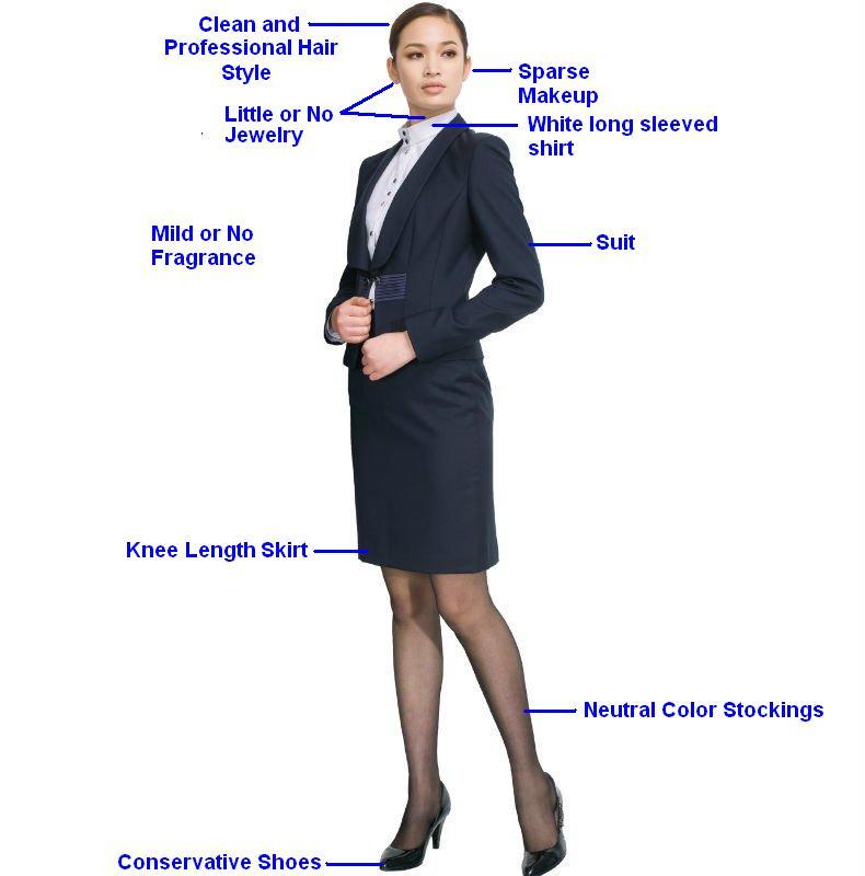 How should a person dress for an interview